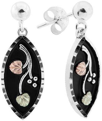 LANDSTROM'S BLACK HILLS GOLD Black Hills Gold Sterling Silver Flower Drop Earrings