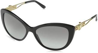 Versace Women's VE4295-GB1/11-57 Cat Eye Sunglasses