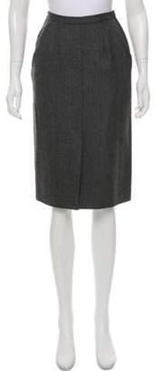 Giorgio Armani A-Line Knee-Length Skirt Grey A-Line Knee-Length Skirt