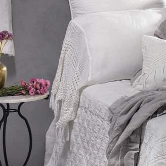 Lulu & Georgia Pom Pom at Home Vintage Crochet Pillowcase, White