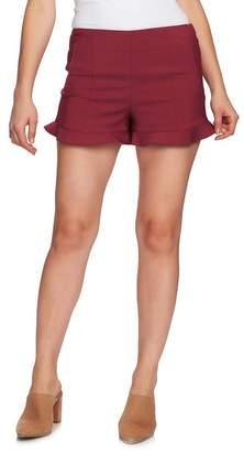 1 STATE 1.State Ruffle Hem Flat Front Shorts