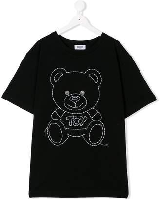 Moschino Kids stitch teddy T-shirt