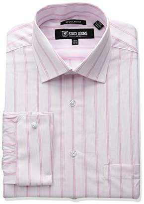 Stacy Adams Men's Big and Tall Stripe Y.d. Dress Shirt