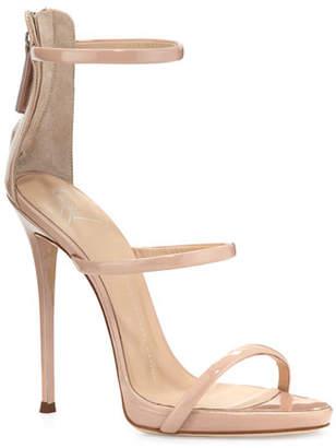59f8b860643 Giuseppe Zanotti Coline Patent Triple-Strap 110mm Sandals