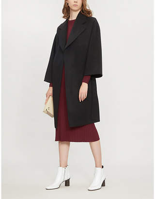 Theory Belted double-faced wool and cashmere-blend coat