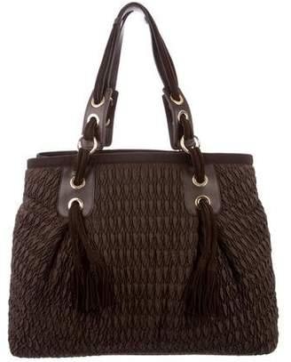 Alberta Ferretti Leather-Trimmed Nylon Bag