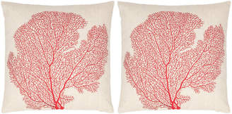 Safavieh Spice-Fan Coral Pillows, Set of Two