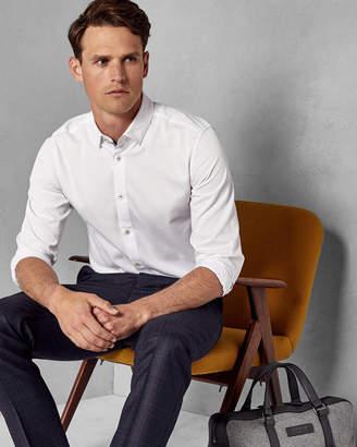 Ted Baker MUSTARD Geo dot print cotton shirt