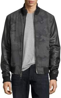 Michael Kors Camo Felted Melton Bomber Jacket