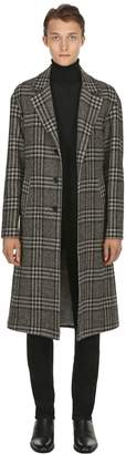 Etro Check Wool Jacquard Coat