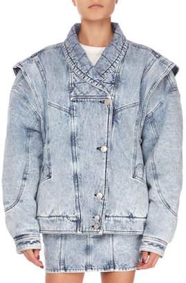 Isabel Marant Rany Oversized Reversible Convertible Jacket with Detachable Sleeves