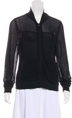 Rag & Bone Open Knit Zip-Up Jacket