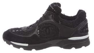 Chanel Tweed CC Sneakers