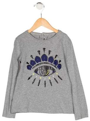 Kenzo Girls' Printed Long Sleeve Top
