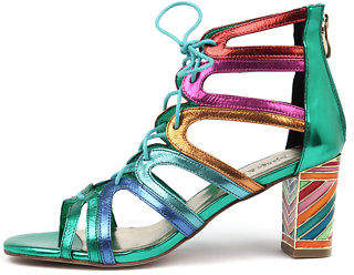 Django & Juliette New Niche Bright Metallic Multi Womens Shoes Casual