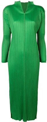 Issey Miyake Pre-Owned long pleated dress