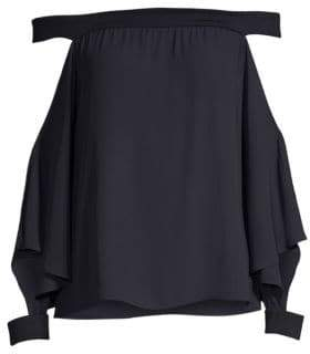 Bailey 44 Off-The-Shoulder Cutout Sleeve Top