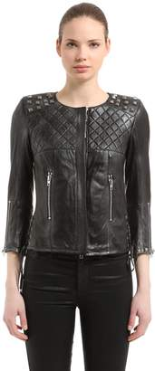 Studded Vintage Leather Jacket