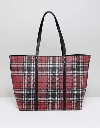 New Look Plaid Tote Bag