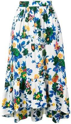 MSGM floral midi skirt