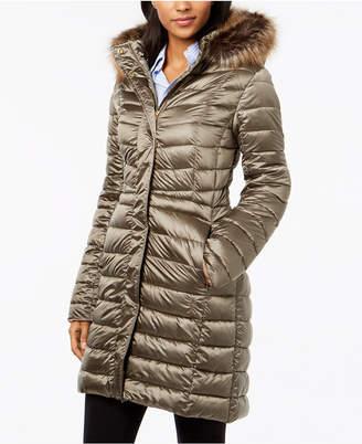 Barbour Berneray Faux-Fur-Trim Quilted Coat