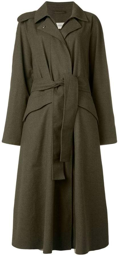 Holland & Holland belted midi trench coat