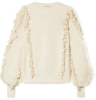 Ulla Johnson Hali Fringed Cotton-terry Top - White