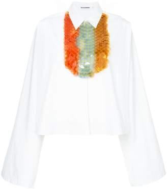 Jil Sander sequin-embellished bib shirt