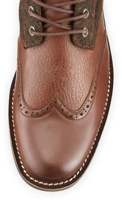 Magnanni Men's Alligator & Leather Double Monk Dress Shoes