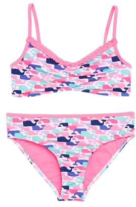 Vineyard Vines Whale Print Two-Piece Swimsuit