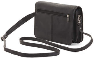 Made In Italy Leather Multi Compartment Crossbody
