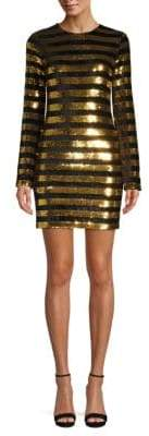 RtA Crystal Sequin Stripe Dress
