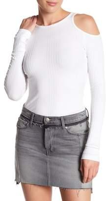Frame Cold Shoulder Ribbed Knit Tee