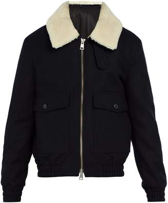 Ami Shearling-collar wool-blend jacket