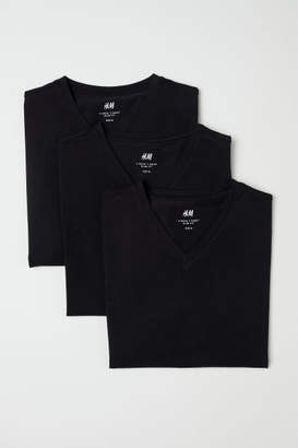 H&M 3-pack T-shirts Slim fit - Black
