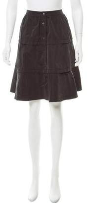 Miu Miu Tiered Knee-Length Skirt