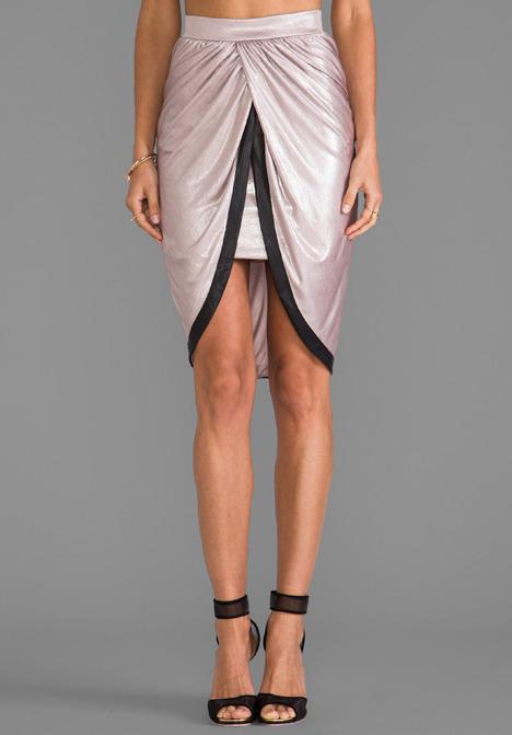 T-Bags LosAngeles Satin Knot Skirt