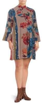Context Plus A-Line Floral-Print Dress