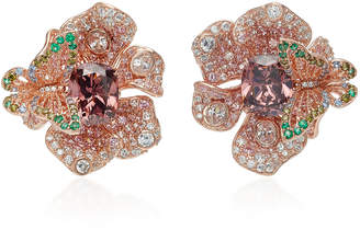 Anabela Chan M'O Exclusive Rose Peony Earrings