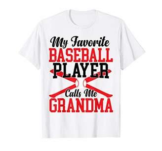 Womens My Favorite Baseball Player Calls Me Grandma T-Shirt
