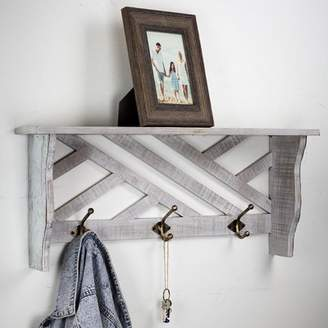 Gracie Oaks Bellegarde Rustic Wall Mounted Coat Rack