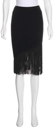 Timo Weiland Fringe-Trimmed Bodycon Skirt w/ Tags