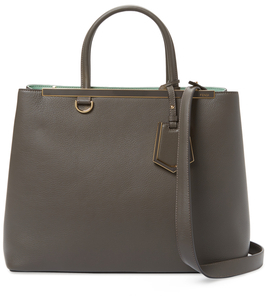 Fendi2Jours Medium Leather Tote