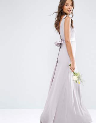 TFNC Tall Wedding Sateen Bow Back Maxi Dress