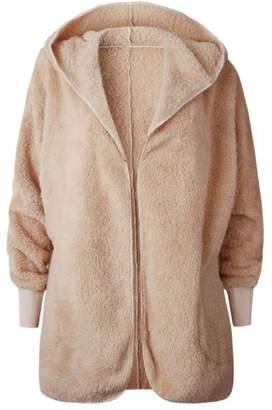 Goodnight Macaroon 'Misen' Hooded Furry Fleece Pocket Jacket (5 Colors)