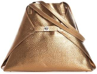 Akris AI Medium Hammered Leather Tote Bag
