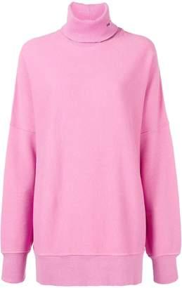 Calvin Klein Oversized embroidered turtleneck sweater