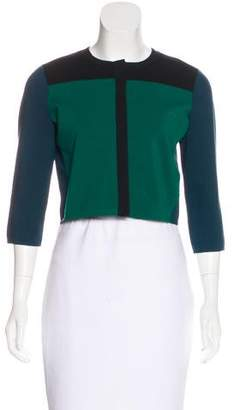 Narciso Rodriguez Silk-Blend Colorblock Cardigan