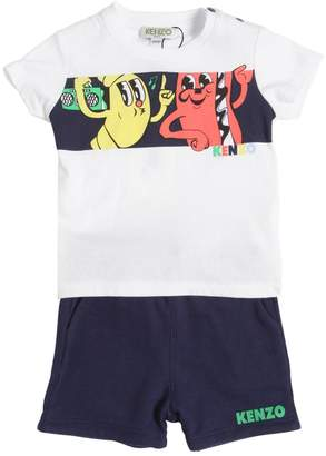 Kenzo Printed Cotton Jersey T-Shirt & Shorts
