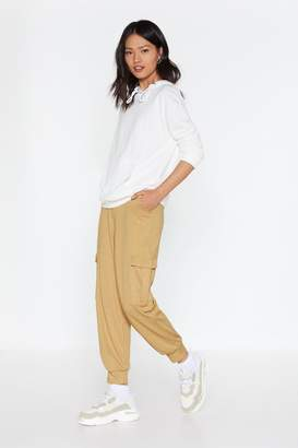 Nasty Gal Womens Cargo Get 'Em Ribbed Trousers - Beige - 6, Beige
